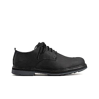 Timberland 男款黑色商務皮革牛津休閒鞋|A1SUS