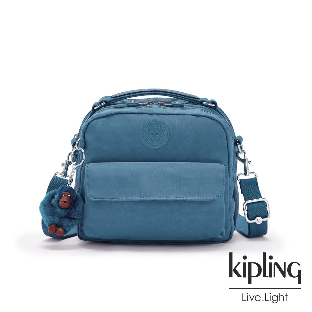 Kipling 優雅天穹藍兩用側背後背包-CANDY