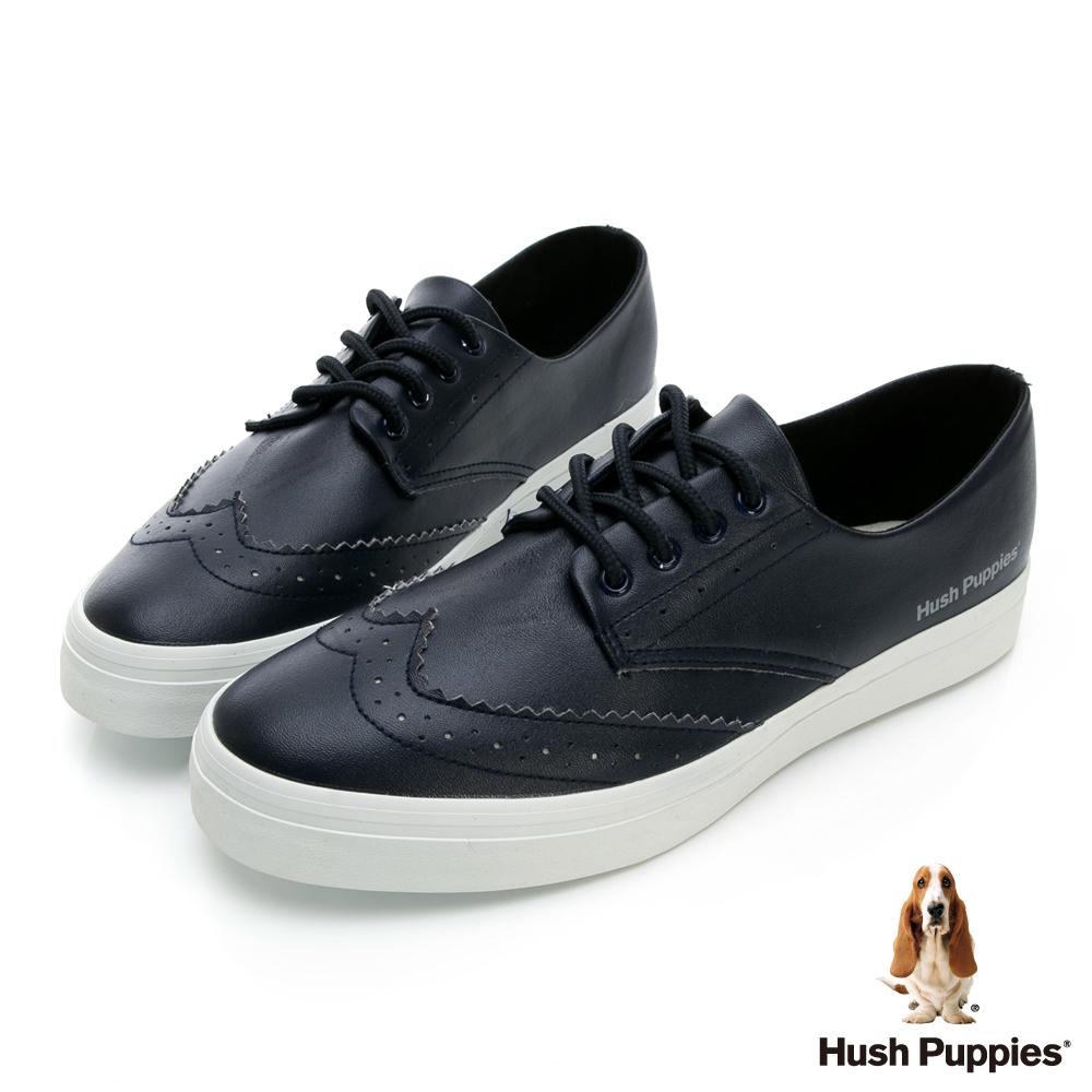 Hush Puppies 經典牛津休閒鞋-黑色