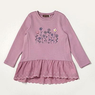 PIPPY 花草刺繡造型上衣 紫
