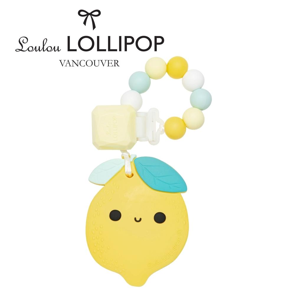 加拿大Loulou lollipop 夏日青檸 固齒器組/奶嘴鍊夾