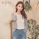 東京著衣-YOCO 優雅簡約V領排扣針織外套(共二色)
