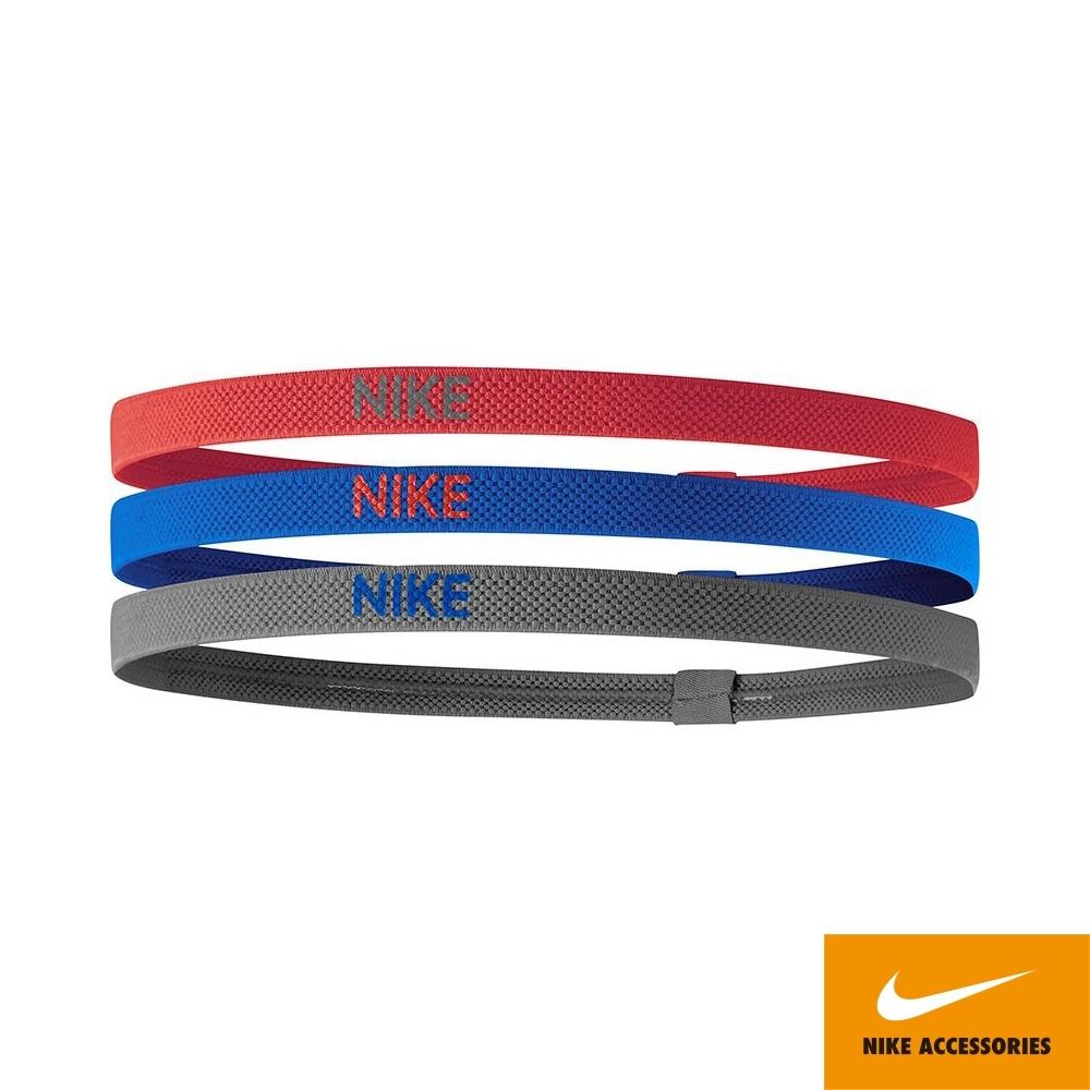 NIKE ELASTIC髮帶 3條入 運動 健身 路跑 紅藍灰 N0000067646OS