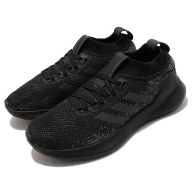 adidas 慢跑鞋 Purebounce W 襪套式 女鞋 海外限定 愛迪達 運動休閒 緩震 回彈 黑 灰 G27962