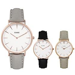 CLUSE荷蘭精品手錶 波西米亞系列皮革錶帶 33/38mm(多