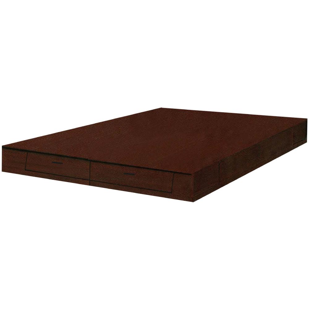 綠活居 博斯5尺雙人抽屜床底(二色+二抽屜收納)-152x188x24cm免組