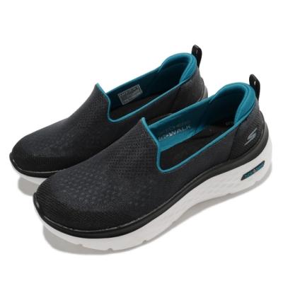 Skechers 休閒鞋 Go Walk Hyper Burst 女鞋 輕量 回彈 避震 緩衝 懶人鞋 黑 白 124577BKTQ