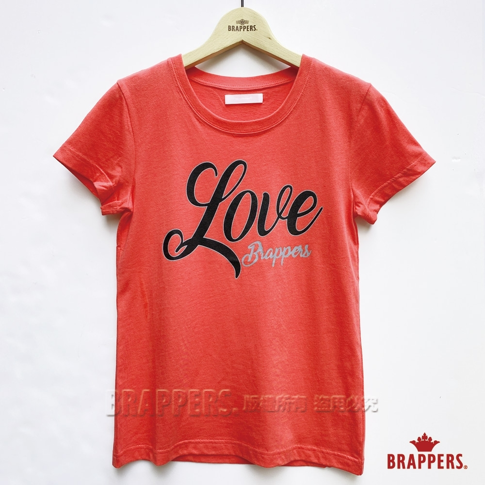 BRAPPERS 女款 LOVE印花圓領T-橘 product image 1