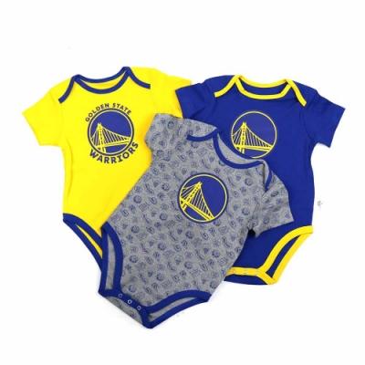 NBA新生兒包屁衣三件組 勇士隊 12-24M