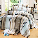 鴻宇 100%精梳棉 大阪風潮 單人床包枕套兩件組