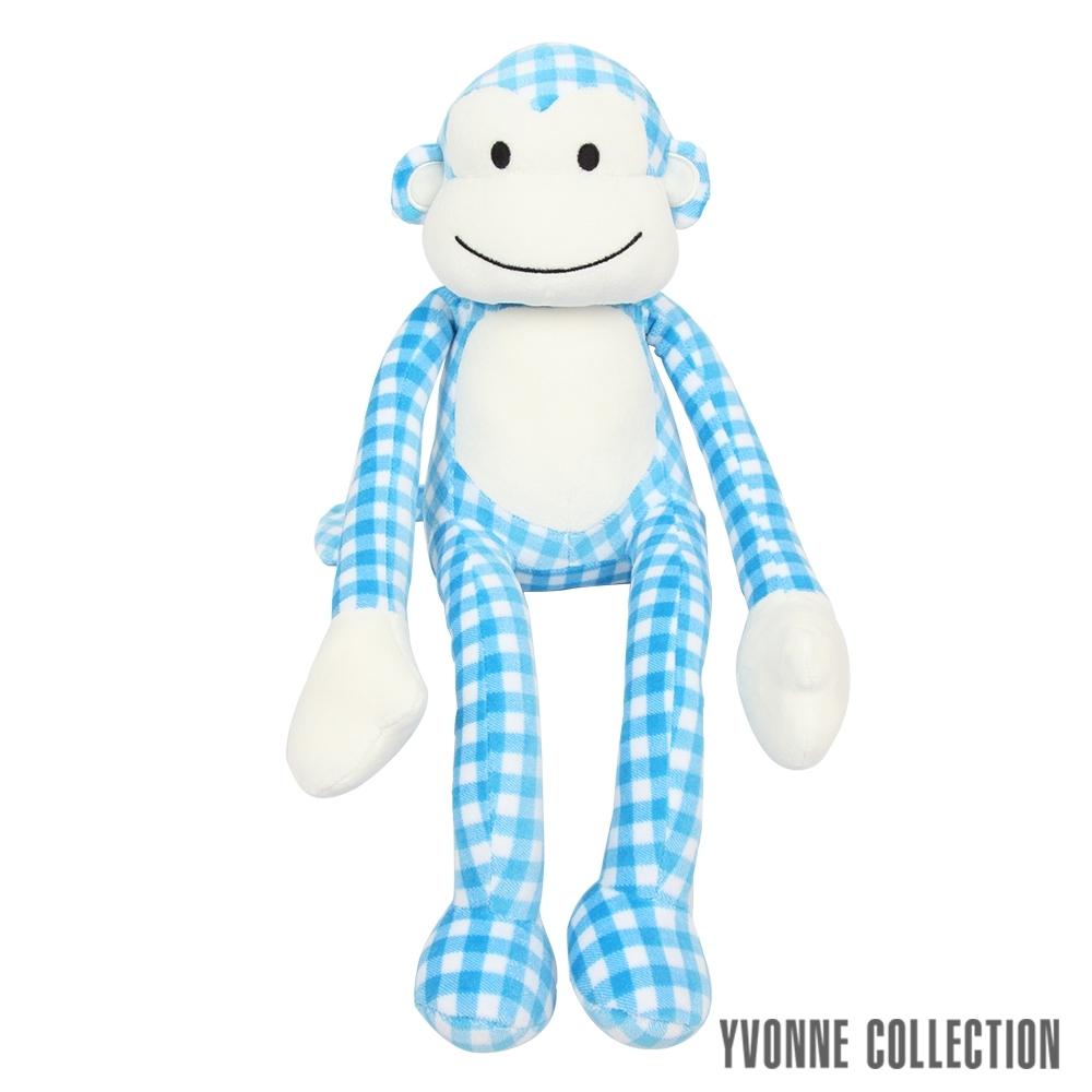Yvonne Collection 猴子造型小抱枕-藍格