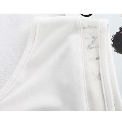正韓 個性透視V領背心上衣 (共二色)-N.C21