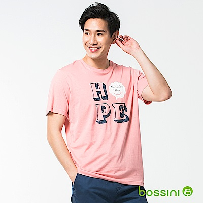 bossini男裝-印花短袖T恤40嫩粉