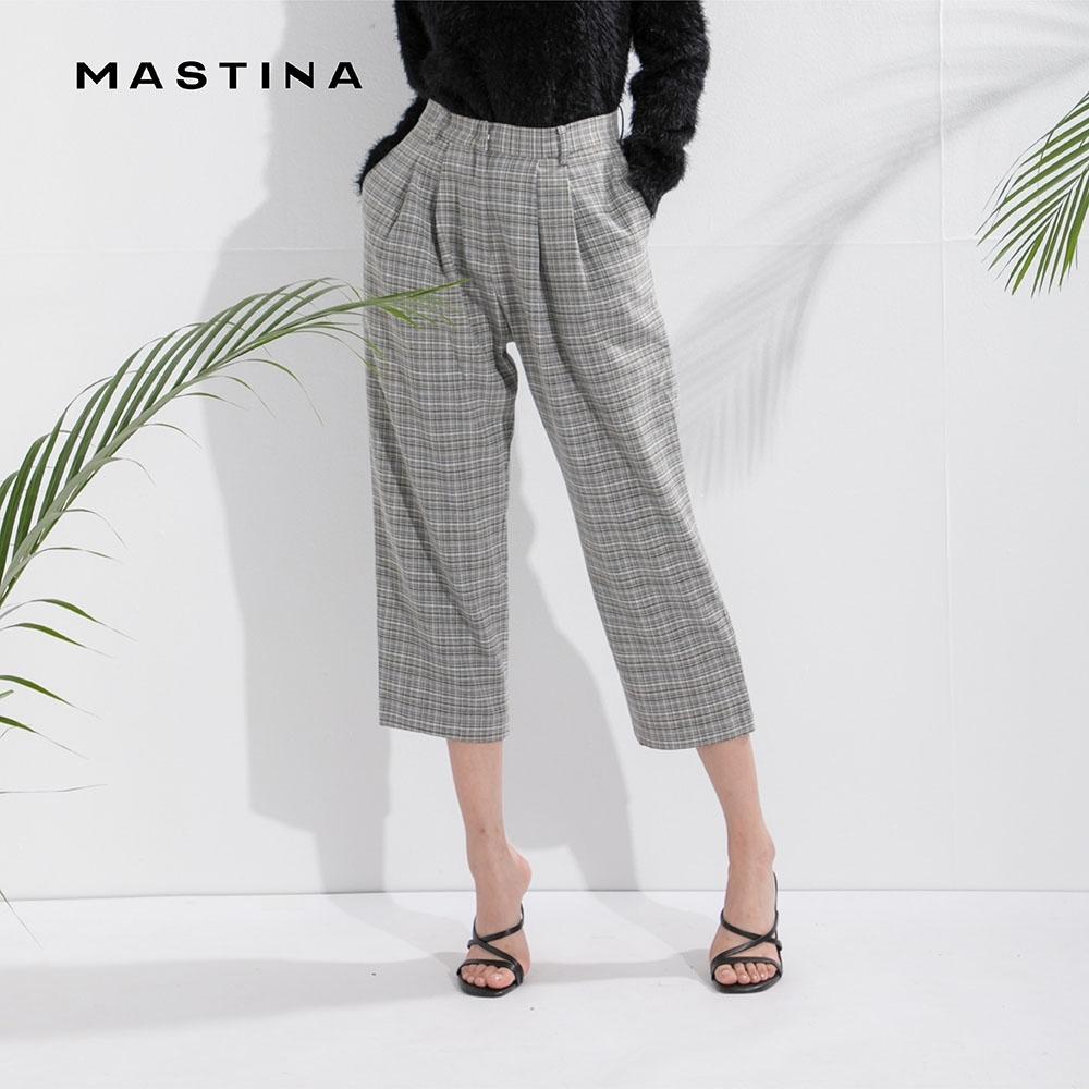 【MASTINA】百搭修身格紋-長褲 (二色)