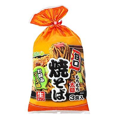 高森  日式炒麵-甘口3入(516g)
