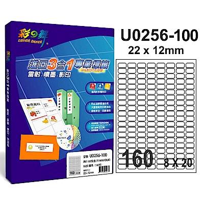 彩之舞 【U0256-100】 A4 3合1 160格(8x20) 標籤紙 300張