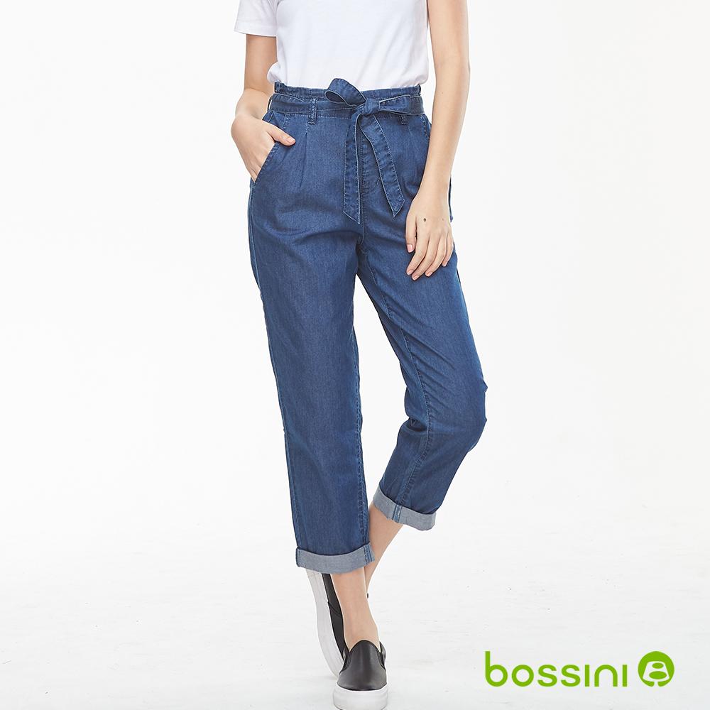 bossini女裝-丹寧長褲牛仔藍