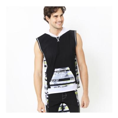 澳洲Sunseeker泳裝泳裝男士時尚LOGO連帽無袖衝浪泳衣上衣6191017