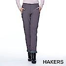 【HAKERS】女款 防潑軟殼褲(灰紫色)