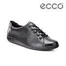 ECCO SOFT 2.0 經典輕盈皮革休閒鞋 女-黑色