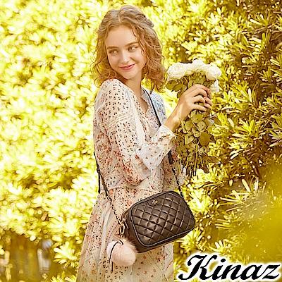 KINAZ 浪漫公主鏈帶斜背包-捲翹黑睫-露比系列