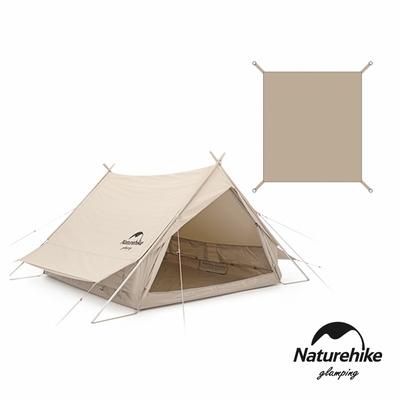 Naturehike 亙 輕奢風戶外加厚雙人棉布屋式帳篷4.8 含地布 ZP011