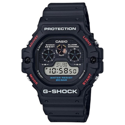 G-SHOCK 經典復刻三眼液晶設計風格-(DW-5900-1)/51.4mm