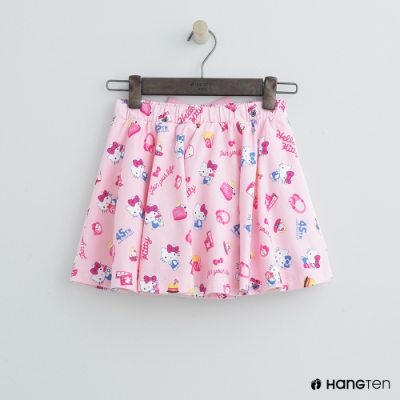 Hang Ten -童裝 - Sanrio-蝴蝶結滿版logo短裙 - 粉