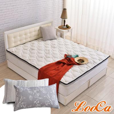 (破盤組)LooCa 法國防蹣防蚊+頂級天絲-超厚8cm兩用日式床墊-雙人5尺