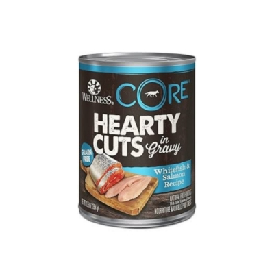 WELLNESS寵物健康-CORE無穀系列厚切肉片主食狗罐-鮭魚 12.5OZ(354g)