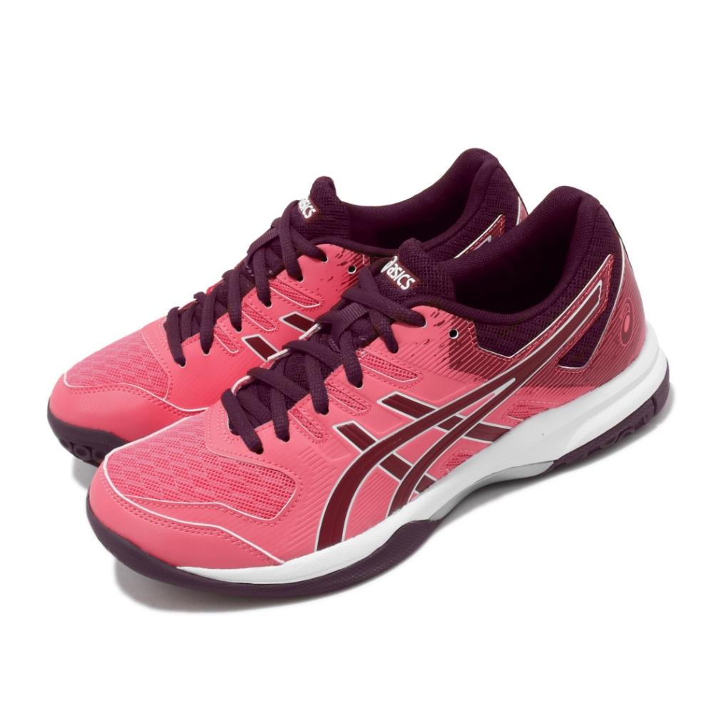 Asics 排球鞋 Gel-Rocket 9 運動 女鞋 亞瑟士 緩衝 透氣 中階 膠底 亞瑟膠 粉 白 1072A034700