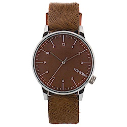 KOMONO Winston Monte Carlo 腕錶-棕色小馬/41mm