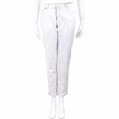 Michael Kors 亮片縫線薄水藍丹寧男友褲