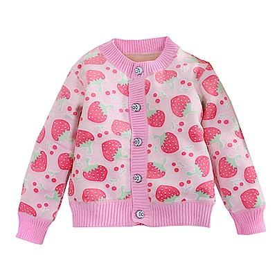 草莓針織保暖上衣 k60585 魔法Baby