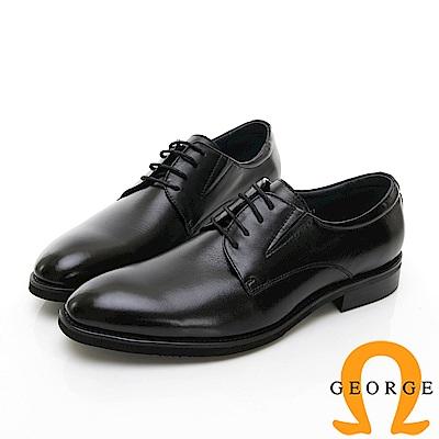 【Amber】商務時尚 素面圓頭紳士皮鞋-黑色 @ Y!購物
