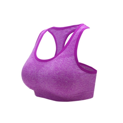 INSTAR 女 寬肩帶運動BRA 紫