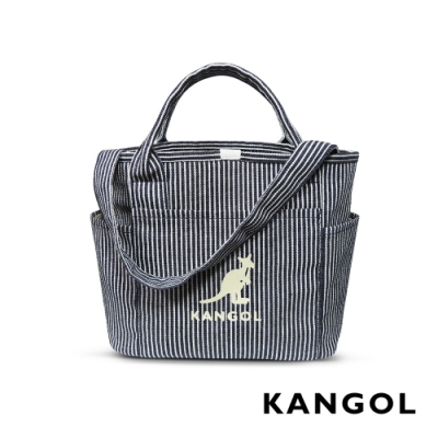 KANGOL 韓版玩色-帆布手提/斜背托特包-線條 AKG1216-C