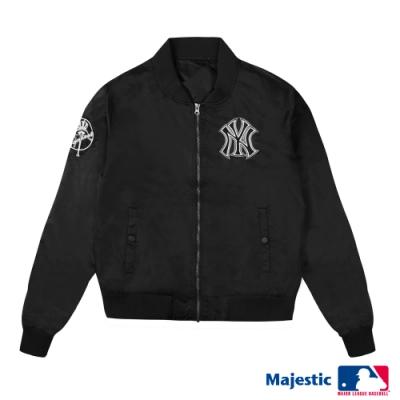 MLB - 洋基隊LOGO縮口薄外套-黑 (女)