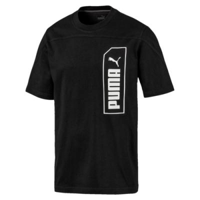 PUMA-男性基本系列NU-TILITY短袖T恤-黑色-亞規