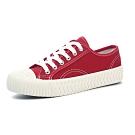 韓國KW美鞋館 簡約經典綁帶厚底帆布鞋-紅