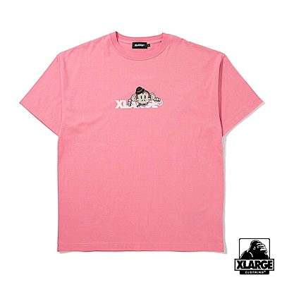 XLARGE S/S TEE KEITH STANDARD LOGO短袖T恤-粉