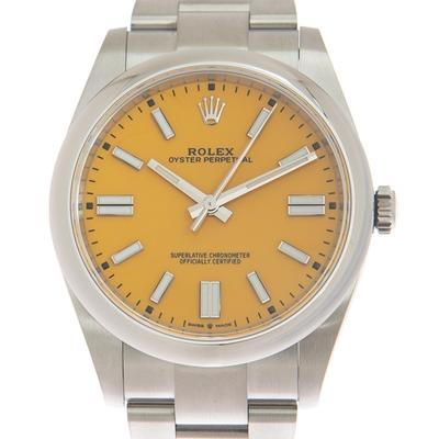 ROLEX 勞力士 124300 Oyster Perpetual蠔式經典多色彩黃面x 41mm