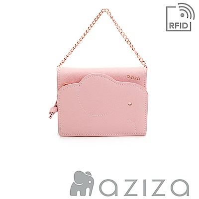 aziza 可拆式鍊帶短夾 粉色
