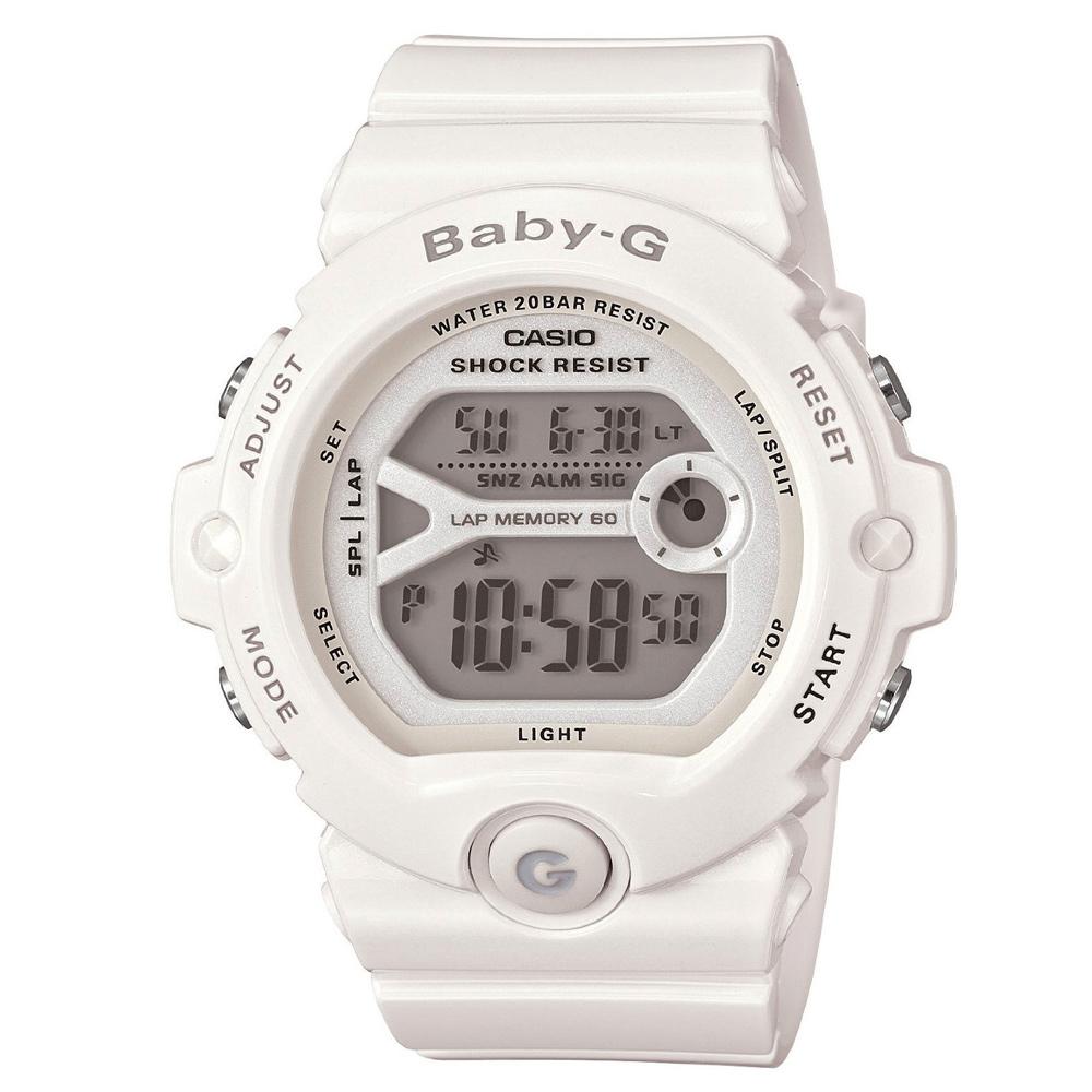 BABY-G 馬錶記憶熱血女孩慢跑運動錶(BG-6903-7B)-雪白/45mm