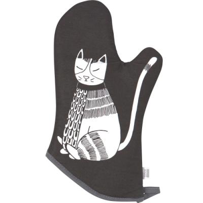《NOW》烘焙隔熱手套(黑白貓)