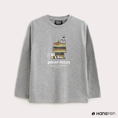 Hang Ten-男童-Charlie Brown狗屋長袖T恤-灰色