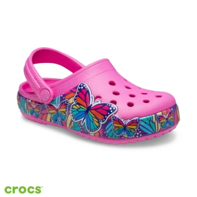 Crocs卡駱馳 (童鞋)趣味學院多彩蝴蝶酷閃小克駱格 206158-6QQ