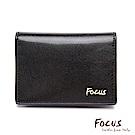 FOCUS原皮時尚黑商務功能型名片夾(FGB1129)