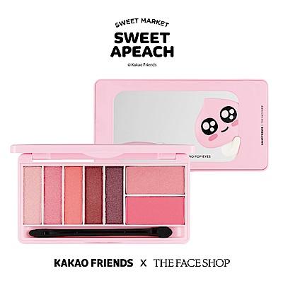 THE FACE SHOP SWEET APEACH 甜桃果汁眼頰盤-02