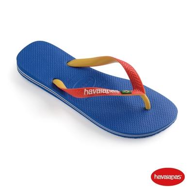 Havaianas哈瓦仕 拖鞋 夾腳拖 人字拖 巴西 男鞋 女鞋 跳色 星空藍/白 4123206-9565U Brasil Mix